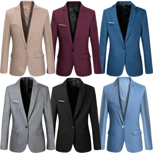 New Mens Casual Slim Fit One Button Suit Blazer Business Coa