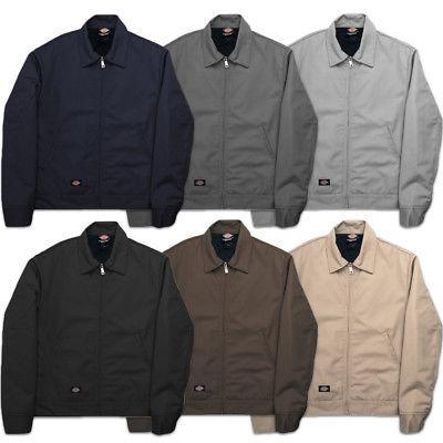 Dickies Men/'s Dark Navy Lined Insulated Eisenhower Jacket TJ15