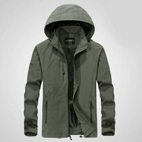 Men's Jacket Waterproof Hooded Outdoor Rain Coat