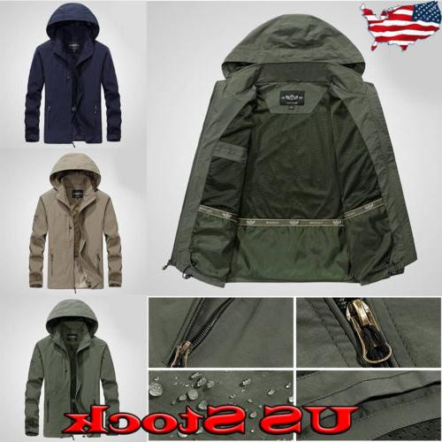 men s jacket waterproof hooded outdoor camping