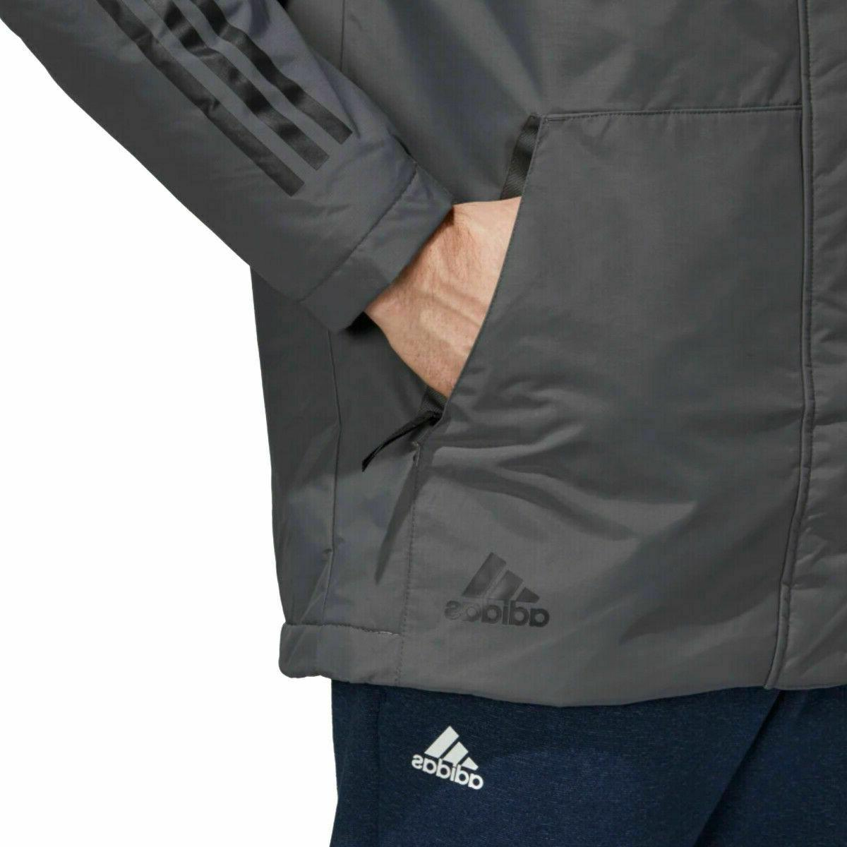 Men's 3 Stripes Hooded Insulated Winter