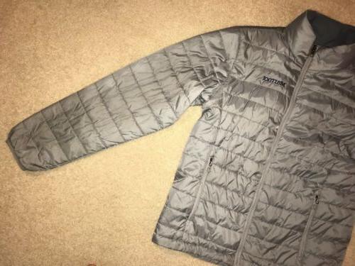 MARMOT Men's Lightweight Puffer Jacket ~ MEDIUM ~ Grey