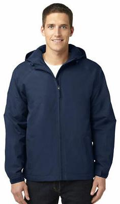 Port Authority Men's Long Sleeve Hooded Polyester Winter Jac