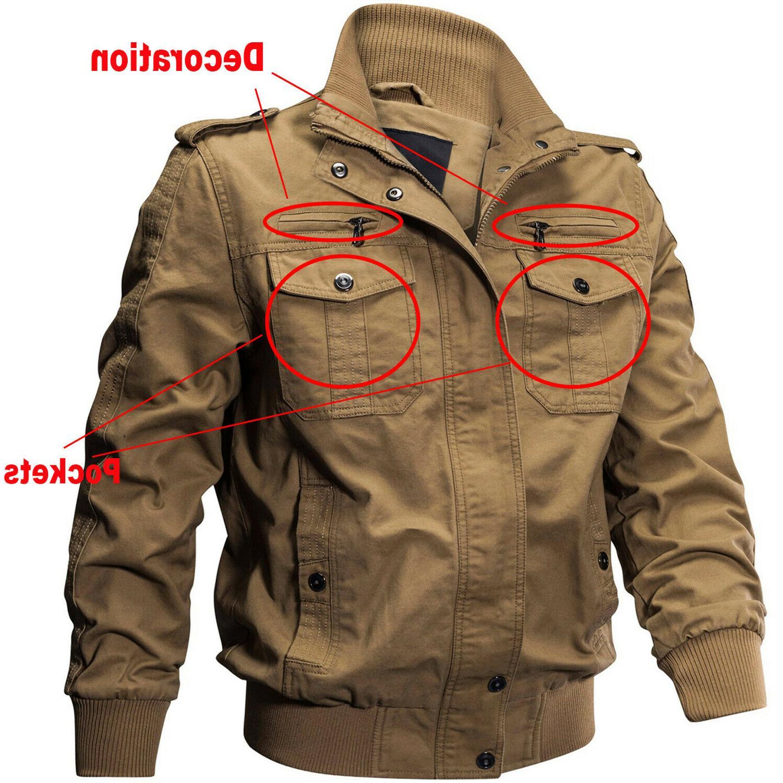 TACVASEN Men's Military Cargo Jacket