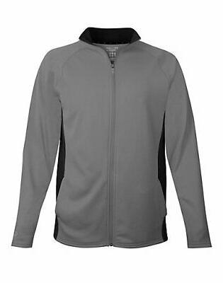 men fleece jacket full zip performance colorblock