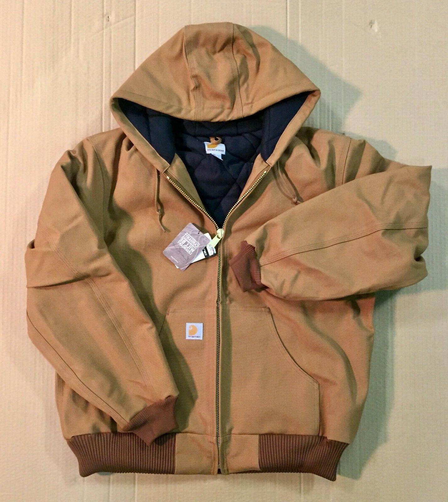 Carhartt Quilted Lined Hooded Jacket J140
