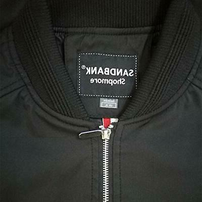 Men's Slim Softshell Jacket Coat, XL, Black