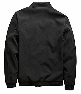 Men's Softshell Flight Jacket Coat, XL,