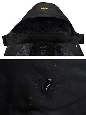 Wantdo Men's Jacket Fleece Jacket US XL Black