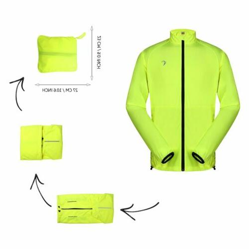 Kylebooker Men/'s Windproof Cycling Windbreaker Jacket Lightweight Jackets