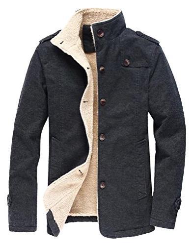 men s winter fleece windproof jacket wool