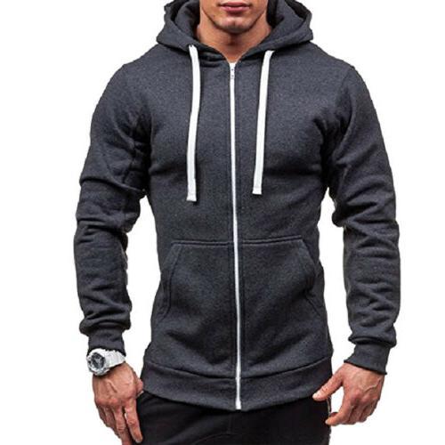 Men's Winter Hoodies Fit Sweatshirt Outwear Sweater Warm