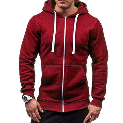 Men's Winter Hoodies Fit Hooded Outwear Sweater Warm
