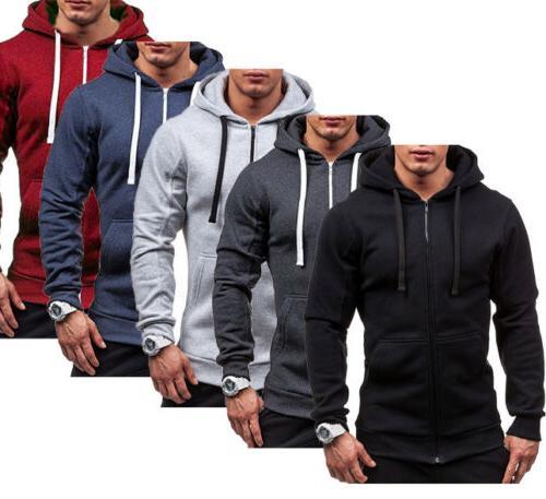 Men's Winter Fit Hooded Sweater Jacket
