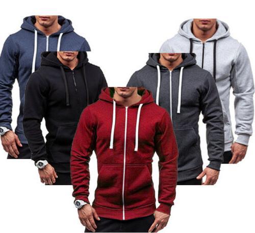 Men's Slim Fit Hooded Sweater Coat Jacket
