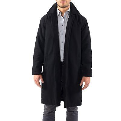 Alpine Swiss Mens Knee Length Coat Trench Overcoat