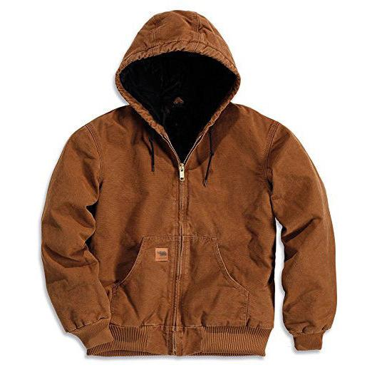 Men Sandstone Thermal Lined Industrial Winter Duck Jacket