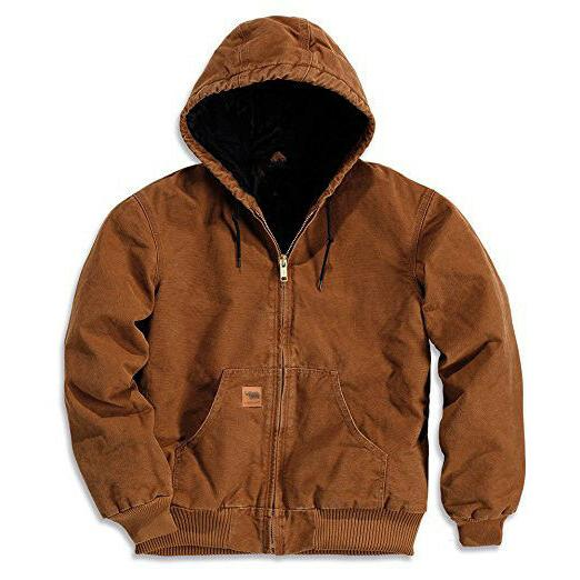 Mens Winter Jacket Coat Jacket Canvas Quilted Waterproof