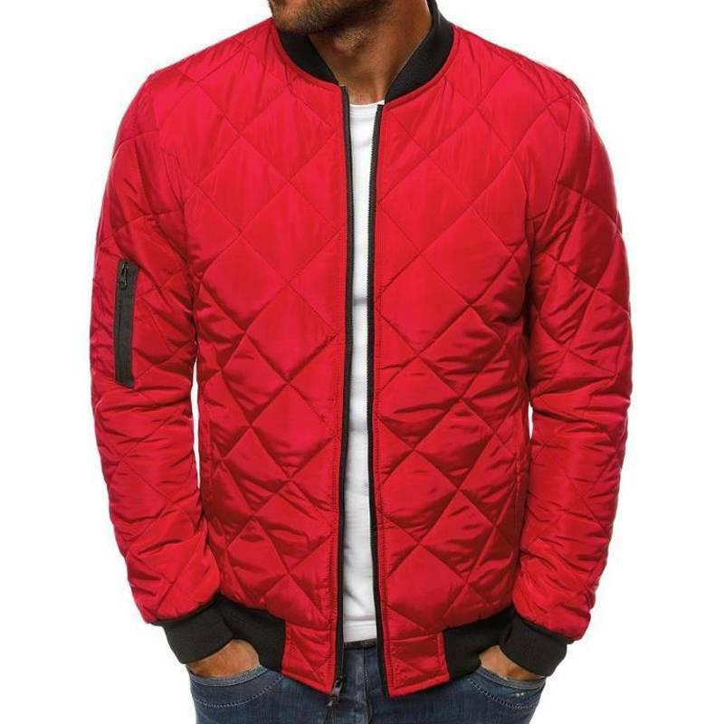 Men Quilted Jacket Casual Winter Coat Outwear