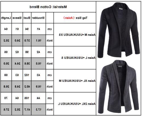 Men Sweater Slim Sleeve Knit Cardigan Suit