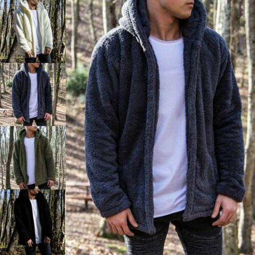 Men Tops Fleece Jacket Hooded