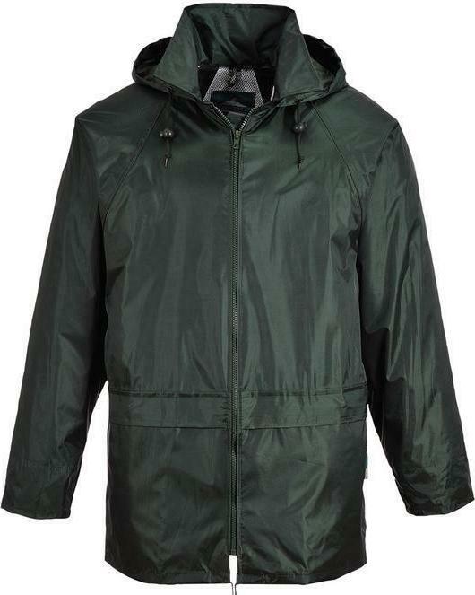 Men Womens Rainwear Waterproof Rain Jacket Attached Hood Plus