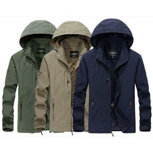 Mens Hooded Outdoor Camping Outwear