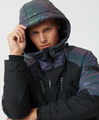 mens aeon holographic padded jacket
