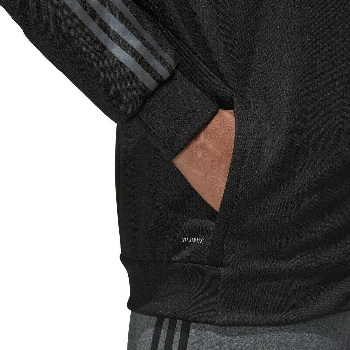 Mens Adidas AFS Track Jacket Black Zip Athletic Size