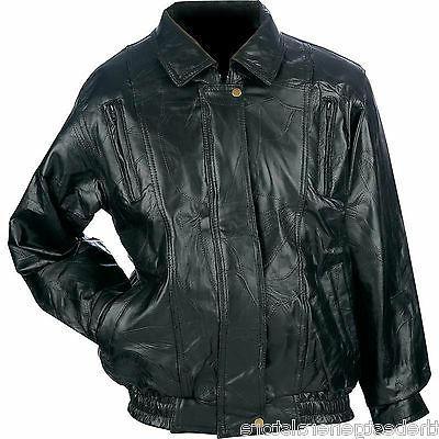 Mens Bomber Lambskin Coat Zipper