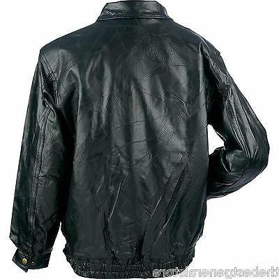 Mens Bomber Style Lambskin Leather Lined Coat Zipper