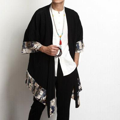 Mens Vintage Japanese Kimono Cardigan