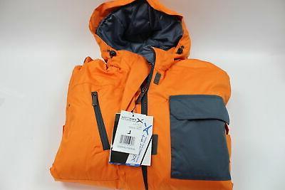 mens cliff insulated winter jacket burnt orange