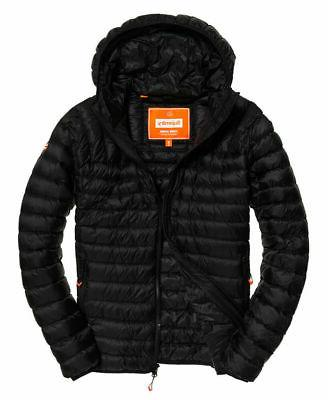 Mens Superdry Hooded Jacket Black
