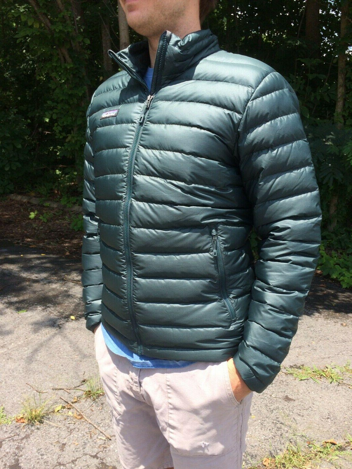 mens down sweater jacket brand new w