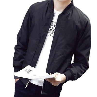 Mens Fashion Bomber Coat Fit