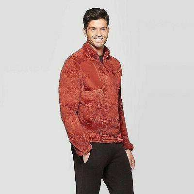 mens fleece 1 4 zip jacket warm