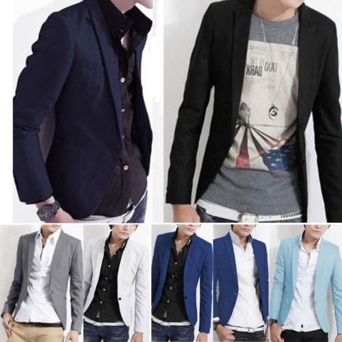 Men Formal Suit Blazer Coat Business Casual Suit Tops