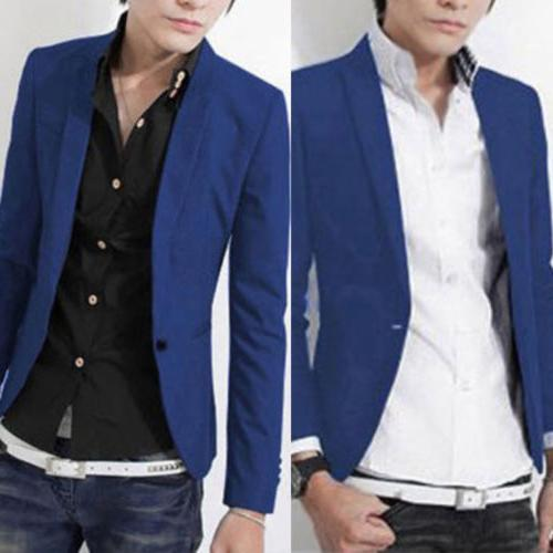 Men Formal Suit Coat Business Button Slim Jacket Suit Tops