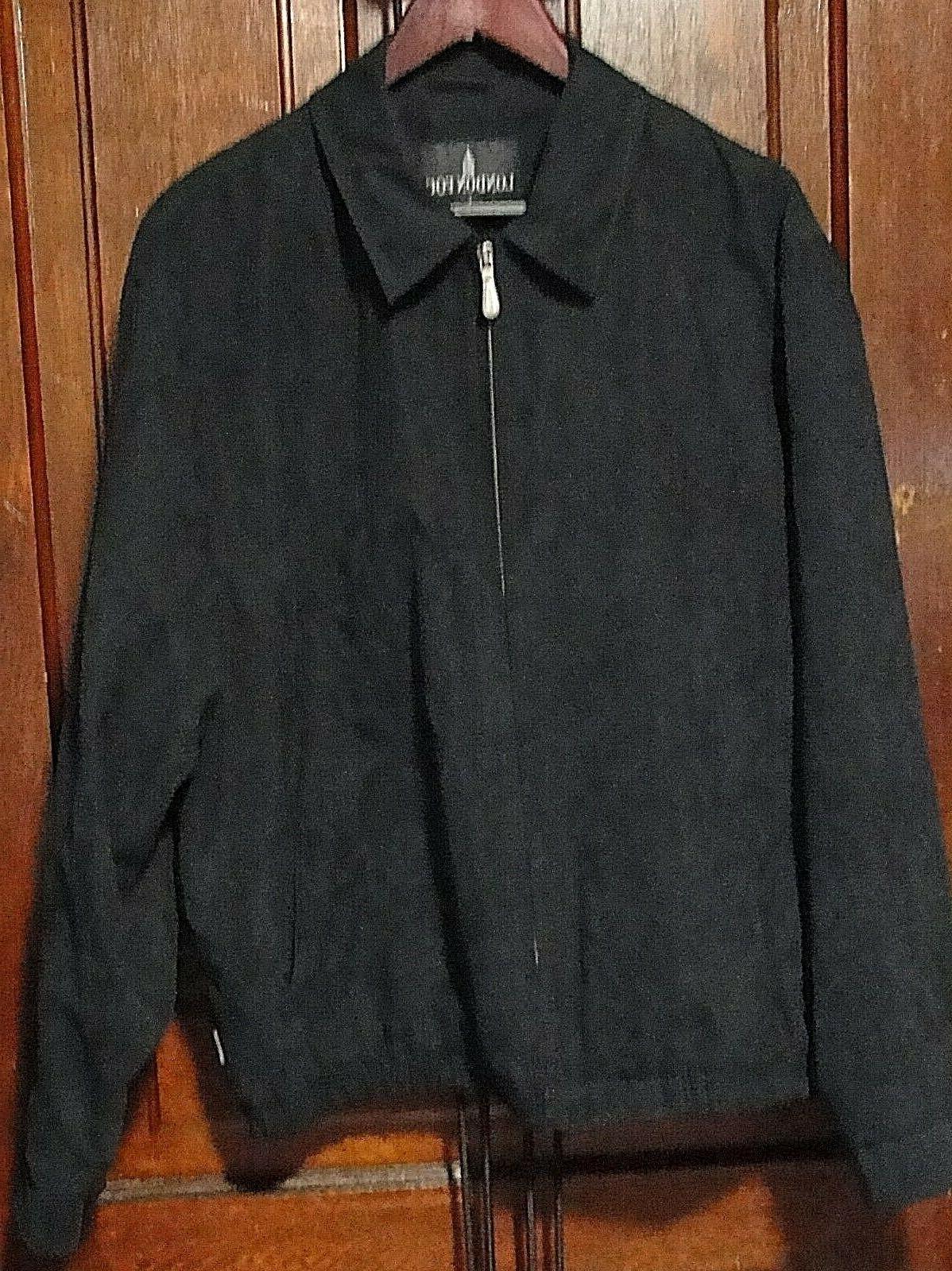 c5d6495b1 London Fog Mens Full Zip Up Black Jacket