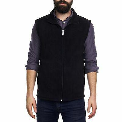 mens full zip up fleece vest lightweight