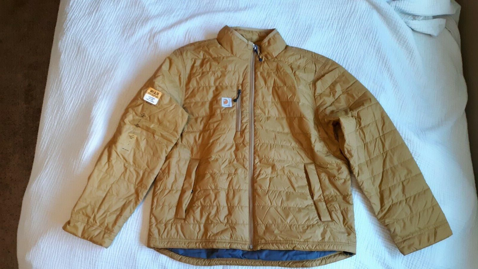 mens gilliam jacket brown large rain defender