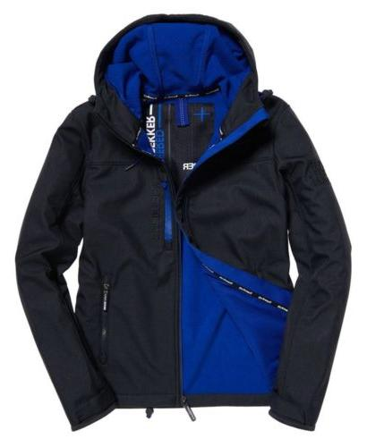 SuperDry Mens Hooded Windtrekker Soft Shell Hiker Jacket S C