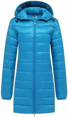 Wantdo Mens Jacket Blue Size Medium M Ultra Light Hooded Zip