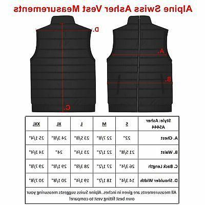 Alpine Swiss Down Alternative Sleeveless Jacket