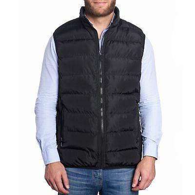 mens lightweight down alternative puffer vest sleeveless