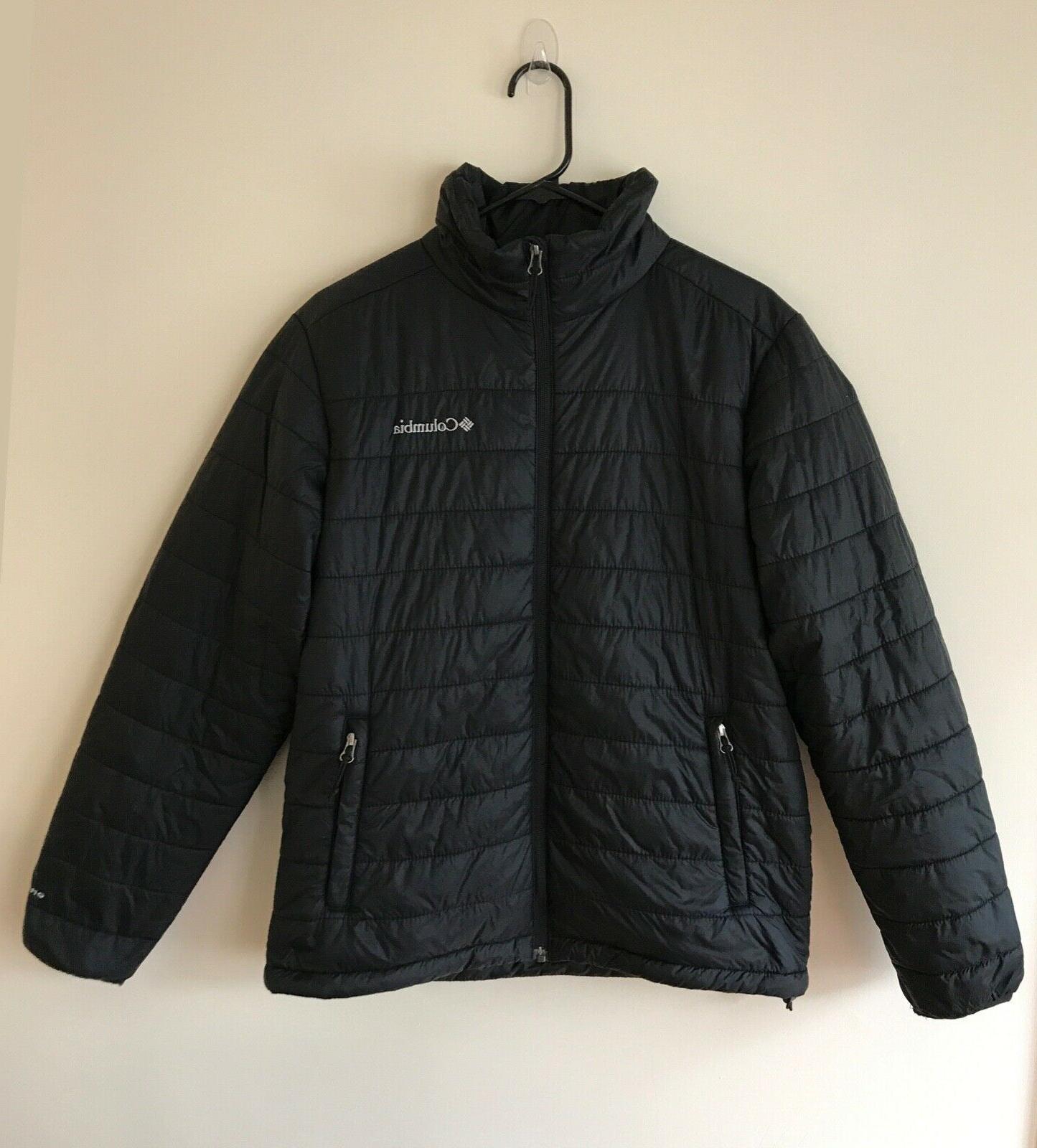 mens m black omni heat puffer jacket