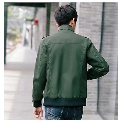 Mens Military Casual Jacket with Zipper
