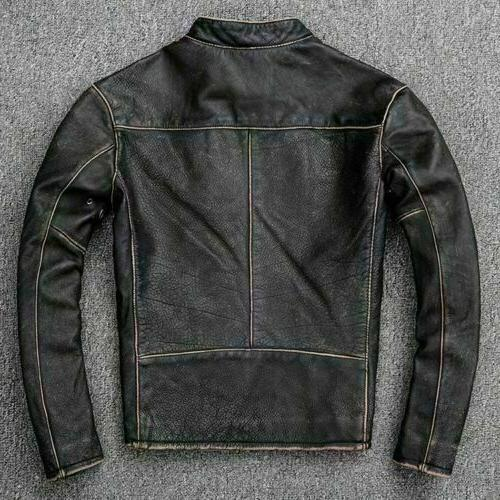 Men's Motorcycle Biker Leather Jacket
