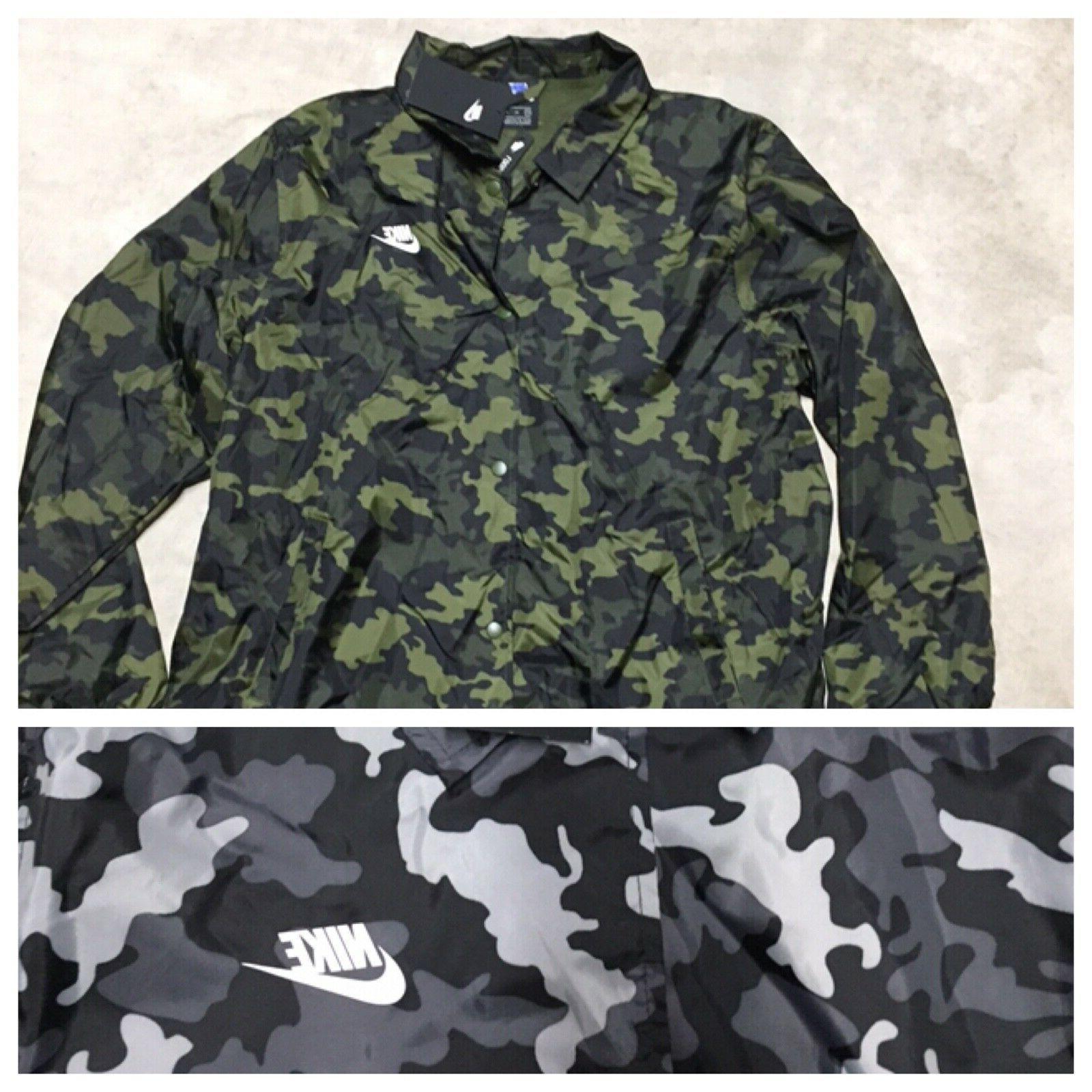 mens nsw coaches jacket coat camouflage camo